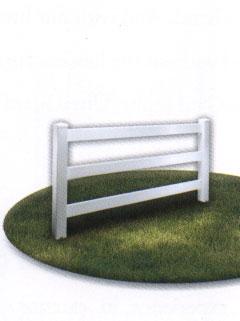 Three Rail Fence White