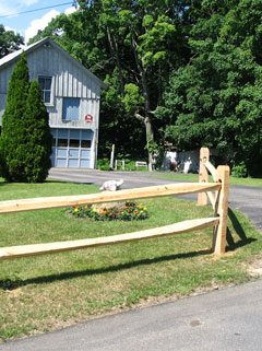hardwood split rail