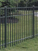 aluminium fence black