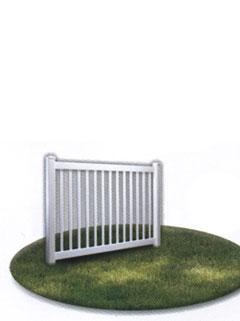 single vinyl fencing